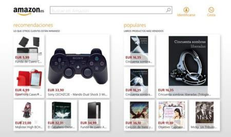 Amazon disponible como aplicación oficial para Windows 8