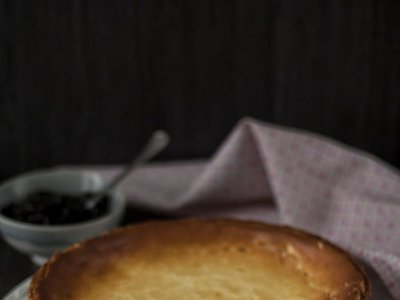 Tarta de queso con base de galleta rápida. Receta Thermomix