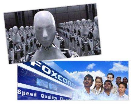 Foxconn quiere reemplazar trabajadores con un millón de robots en los próximos tres años