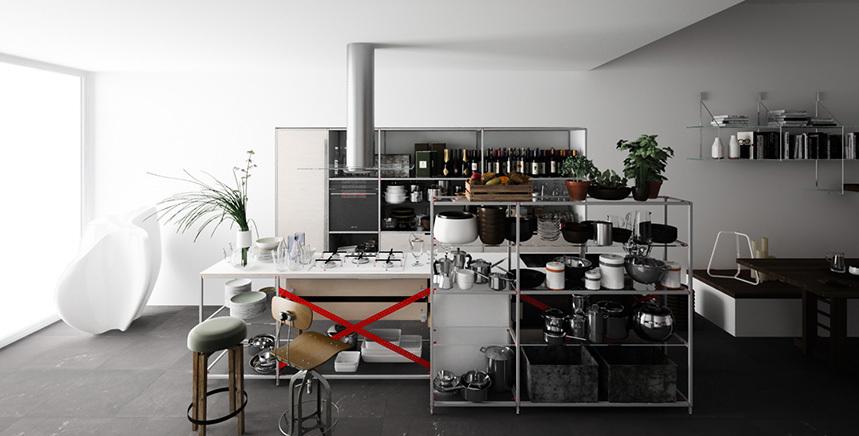 Foto de Meccanica, un sistema de almacenaje muy versátil y minimalista (16/21)