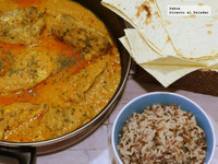 Butterchicken curry. Receta