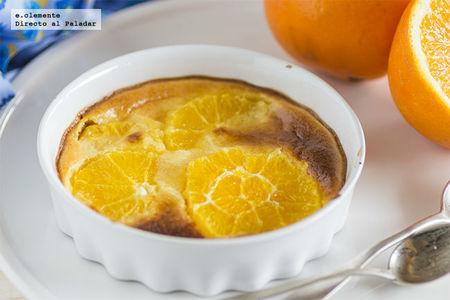Gratén de naranja y crema. Receta