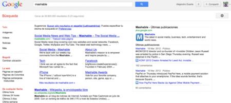 Google muestra los últimos contenidos de Google+ en las búsquedas