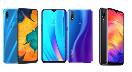 Realme 3 Pro, comparativa: así queda contra el Redmi Note 7, Xiaomi Mi 8 Lite, Huawei P30 Lite y Samsung Galaxy A30