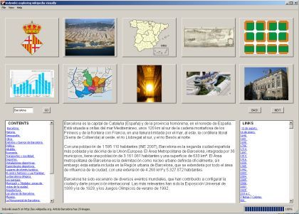 Indywiki, explorando la Wikipedia visualmente