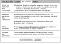 Gmail Offline: primera toma de contacto