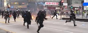 Las protestas de Hong Kong ya se han convertido en cine de acción. Este alucinante vídeo lo prueba