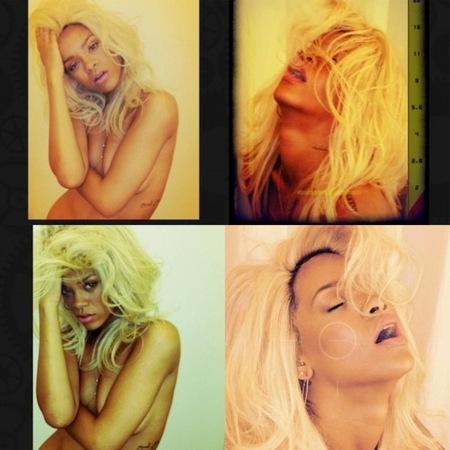 Rihanna y sus sostén de brazos: práctico, práctico... tampoco parece