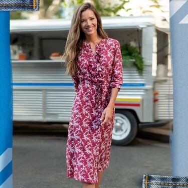 La blusa y el vestido de flores de Malena Costa que podrían ser de Zara, pero son de Lidl y cuestan menos de 10 euros