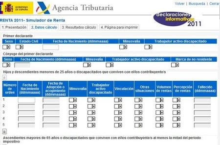 Disponibles las declaraciones informativas y el simulador del IRPF 2011 de la AEAT