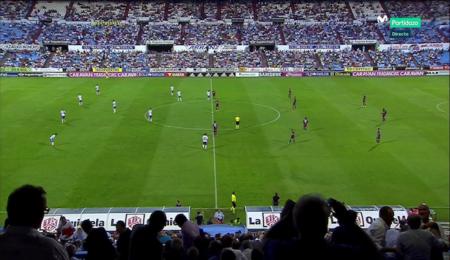 Captura de un partido de fútbol ofrecido a través de Movistar+