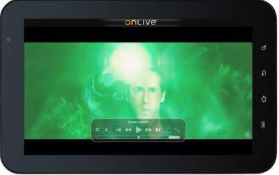 Onlive para los tablets, el precalentamiento