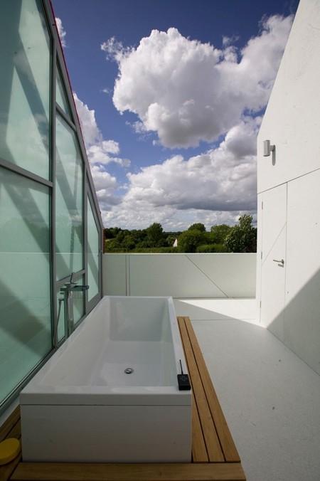 Casas poco convencionales de cristal y con tejado deslizante - Tejados de cristal ...