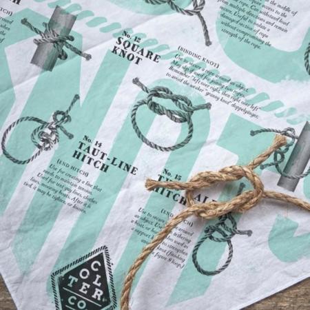 Aprende a hacer los mejores nudos con este pañuelo de Colter Co.