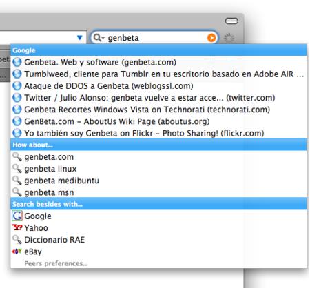 Peers, el cielo de las búsquedas instantáneas llega a Firefox