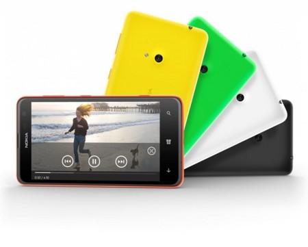 Lumia 625 reproduciendo vídeo