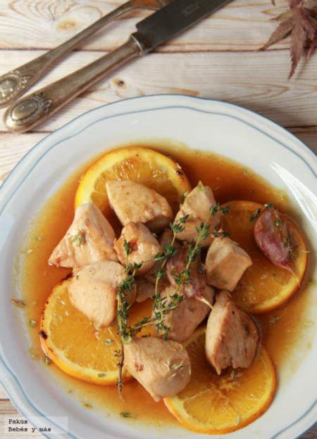 Como hacer pechuga de pollo en salsa de naranja