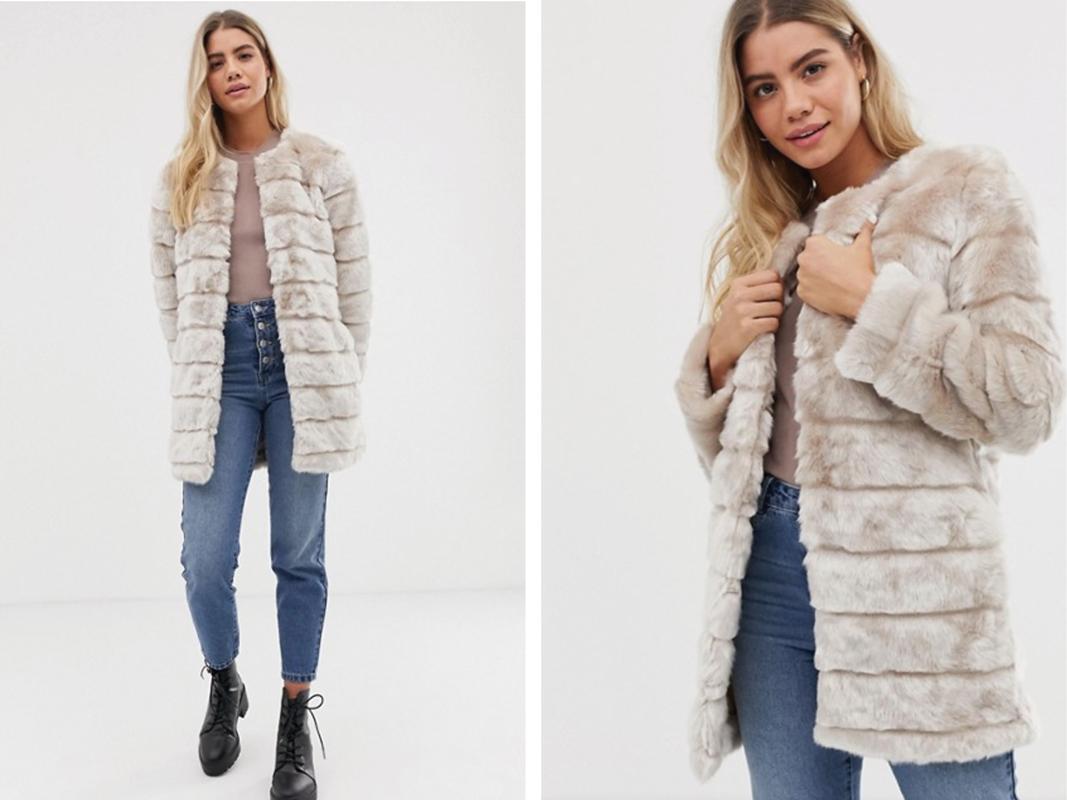 Abrigo largo de pelo sintético Maisy de Urban Bliss