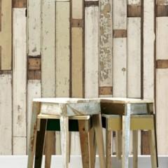 Foto 1 de 3 de la galería papel-pintado-para-imitar-revestimientos-de-madera en Decoesfera