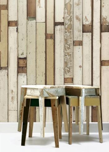 Foto de Papel pintado para imitar revestimientos de madera (1/3)