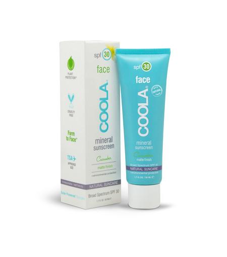 Coola Mineral Sunscreen Face Cucumber Matte Spf30