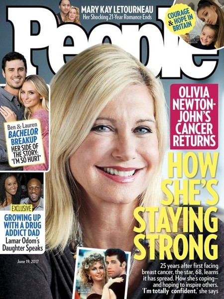 Olivia Newton-John sigue peleando