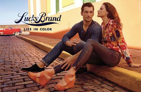 Nos vamos de vacaciones con David Gandy para Lucky Brand Primavera-Verano 2012