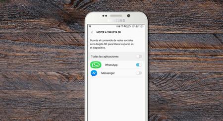 Mover a Tarjeta SD, una utilidad oculta de Samsung para que WhatsApp no te llene el espacio del móvil