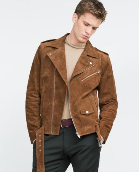 zara hombre chaqueta piel