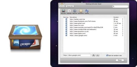 Websaver, un salvapantallas para Mac OS X con conexión a la web