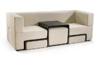 Sofá y mesa de centro, dos en uno