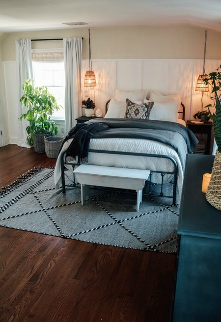 Antes y después: un dormitorio que se renueva por completo de un modo sencillo y asequible