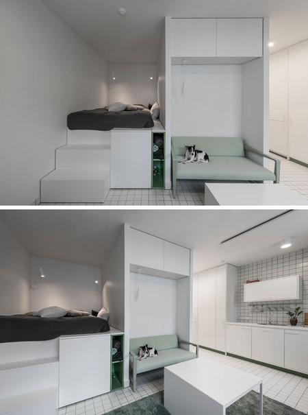 Micro Apartment Design Layout Loft Bed Interior 270818 1557 13 800x1076