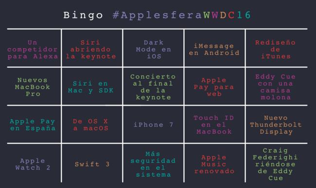 Bingo ApplesferaWWDC16