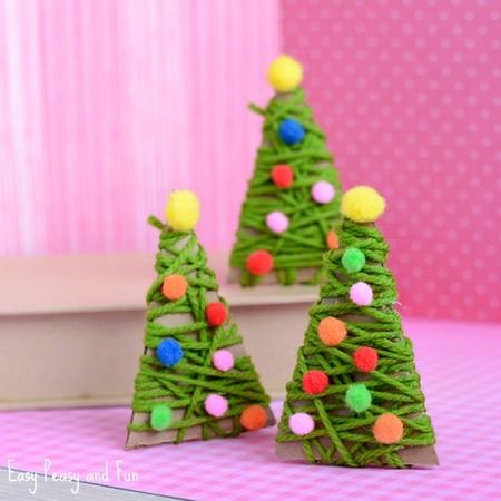 Manualidades Navidad Arbol Hilo