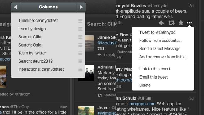 Tweetdeck se actualiza mejorando el desplazamiento entre columnas