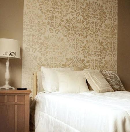 Un cabecero diferente empieza el a o redecorando el for Papel para pared dormitorio