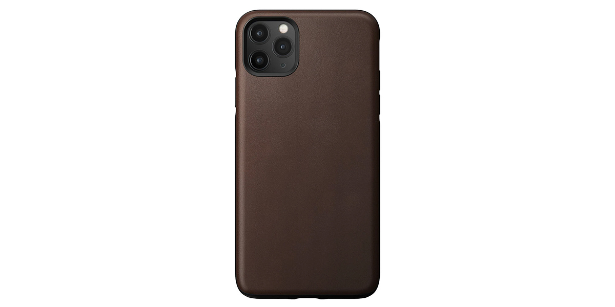 Nomad Rugged Funda Piel iPhone 11 Pro Max Marrón
