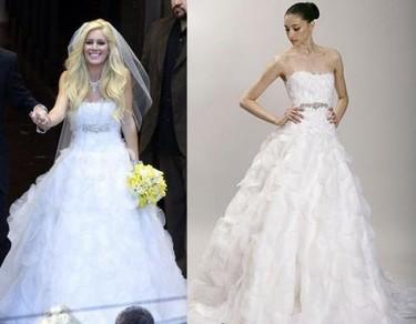 El vestido de novia de Heidi Montag