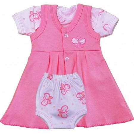 Vestido Rosa Camiseta Y Braguita