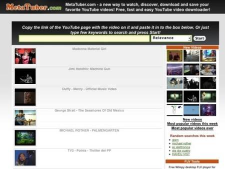 Metatuber, descubre y descarga vídeos de YouTube