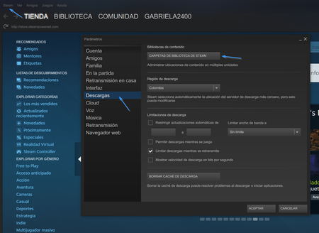 Descargas Steam