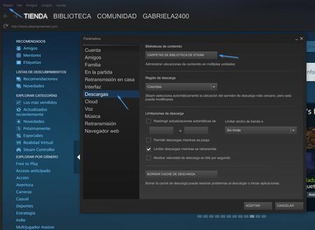 Descargas Steam