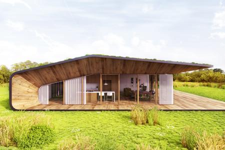 Casa recubierta de vegetación