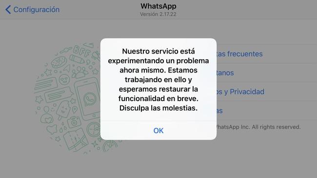 WhatsApp regresa a caerse, sólo 2 semanas luego de su última caída