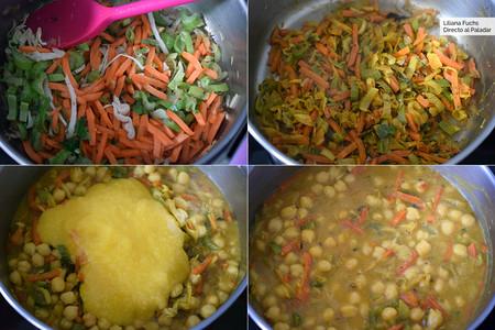 Curry de garbanzos y mango