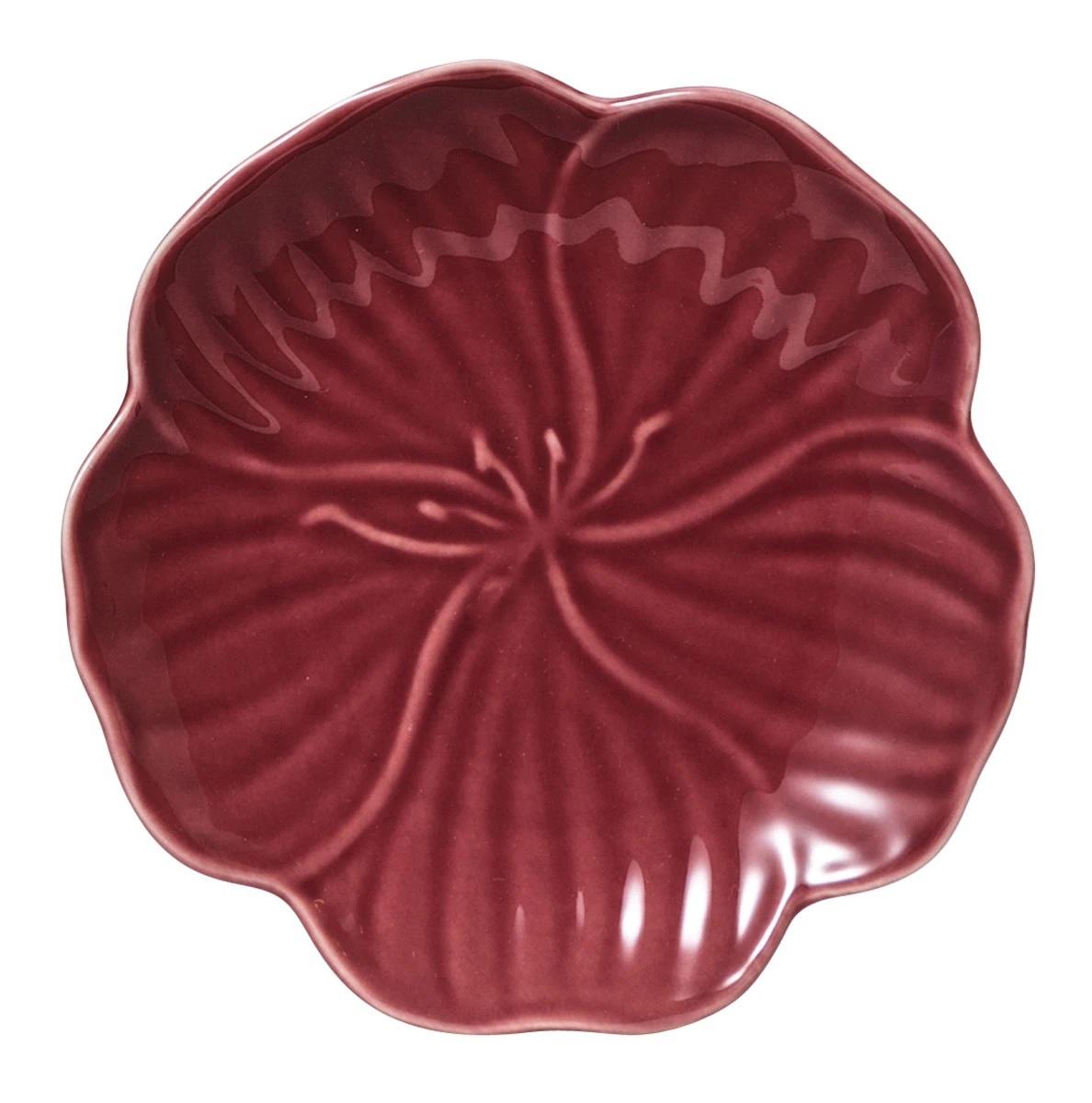 Plato con forma de flor