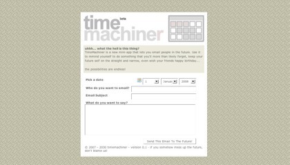 Timer Machiner, enviando mensajes de correo al futuro