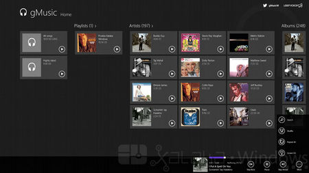 gMusic, interfaz