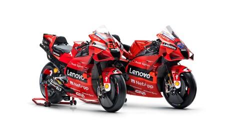 El rojo se abre paso en la nueva Ducati Desmosedici GP21, la primera moto presentada de MotoGP 2021